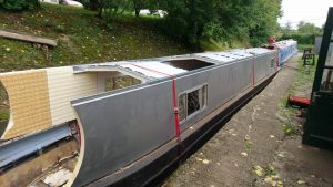 Early stage of the boat top at North Kilworth