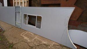 Narrowboat side panel for Lesley Ann
