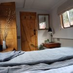 View from the bed on boutique narrowboat retreats