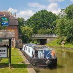 The wharf inn bugbrook canal boat