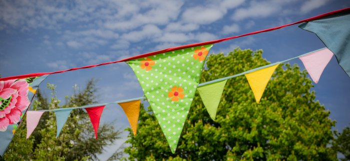 bunting for special birthday occasions on our luxury boutique canal boat 700