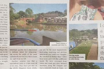 first canal boat holiday article