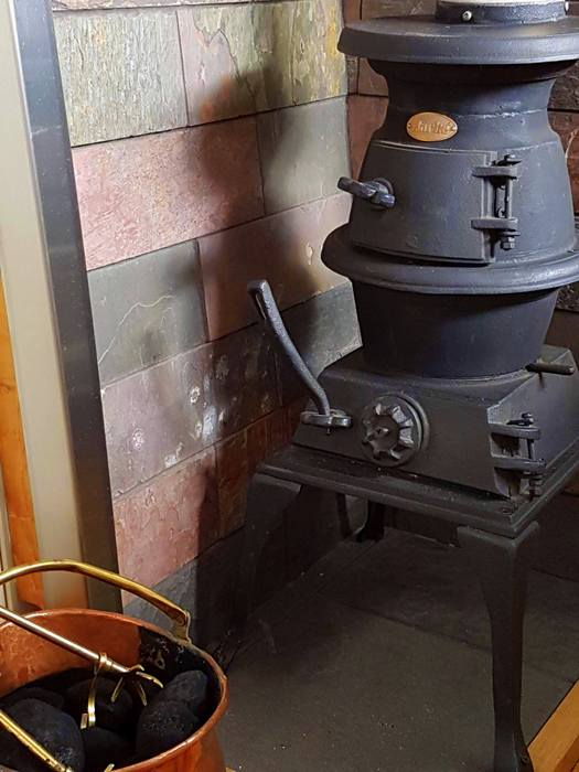 boutique narrowboat pot bellied stove