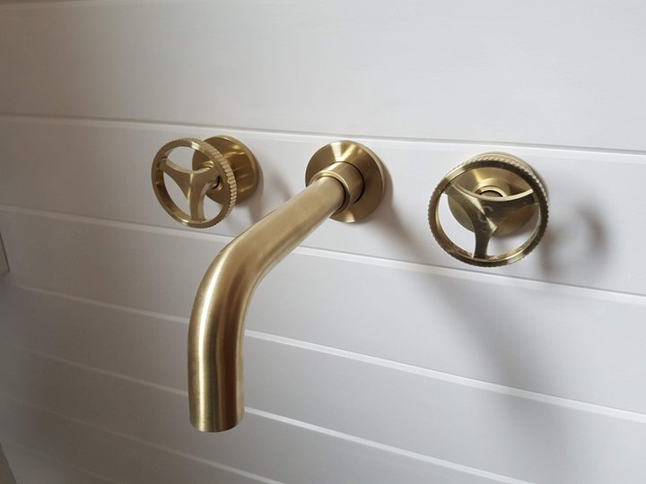 brushed gold taps