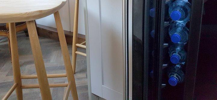 Luxury wine fridge on Woodland Grayling
