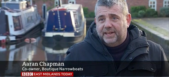 boutique narrowboats on tv with Aaran