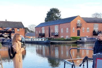boutique narrowboats and union wharf being filmed