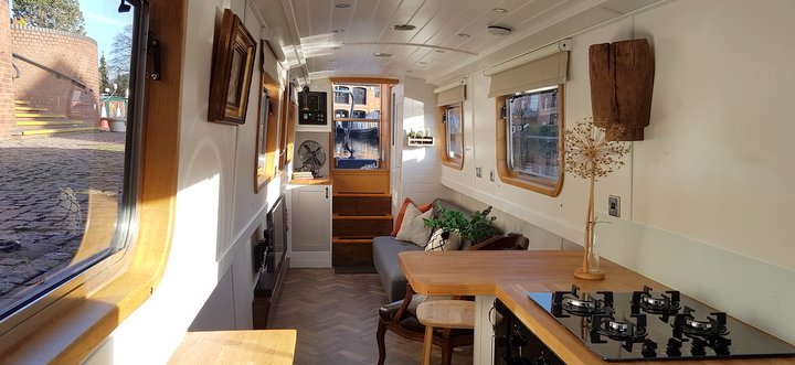 luxury canal boat at Boutique Narrowboats
