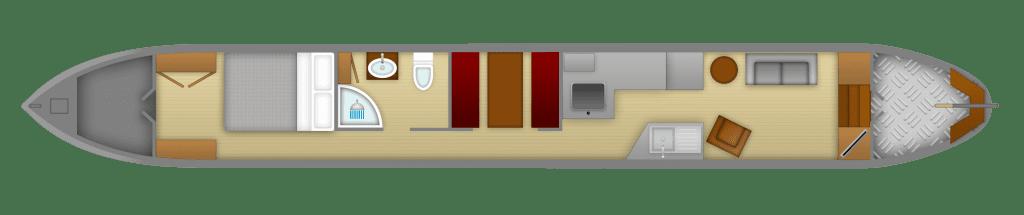 Kathleen May narrowboat plan